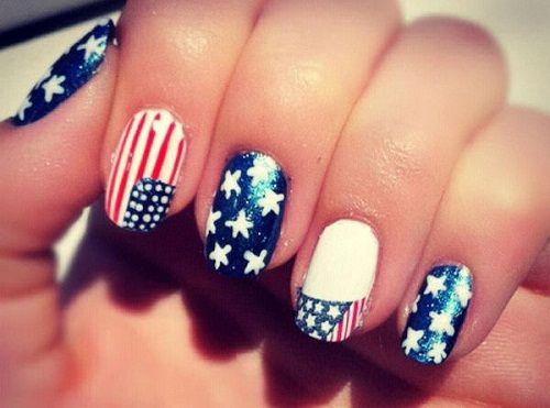 готовый флаг на ногтях фото