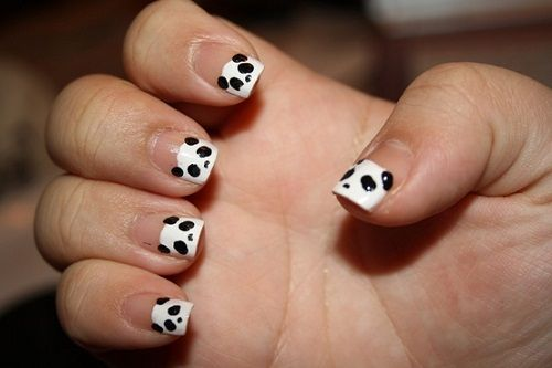 "маникюр ""панда"" фото"