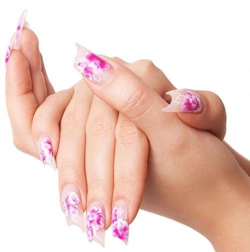 необычная форма ногтей фото