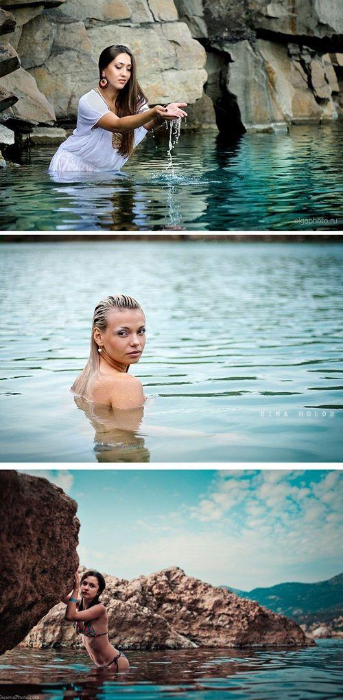 позы в воде фото