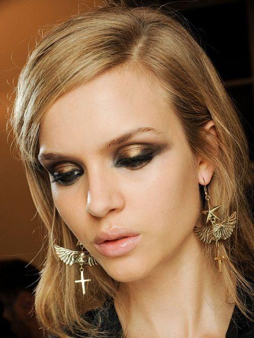 золотой цвет в макияже фото