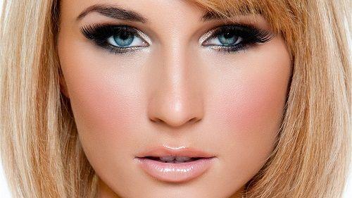 макияж для голубоглазых блондинок фото
