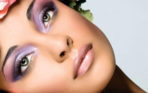 макияж с лиловым оттенком фото