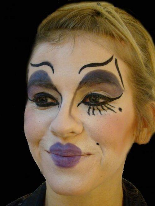делаем театральный макияж фото
