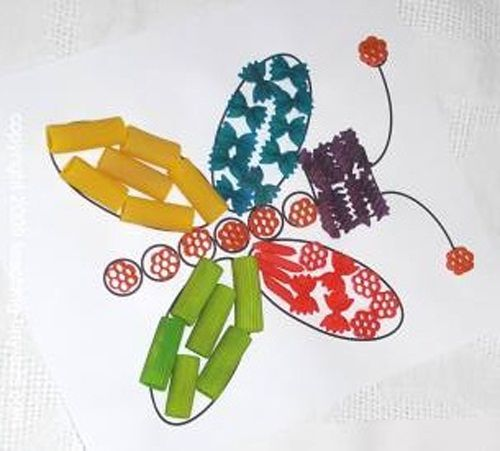 бабочка из макарон фото