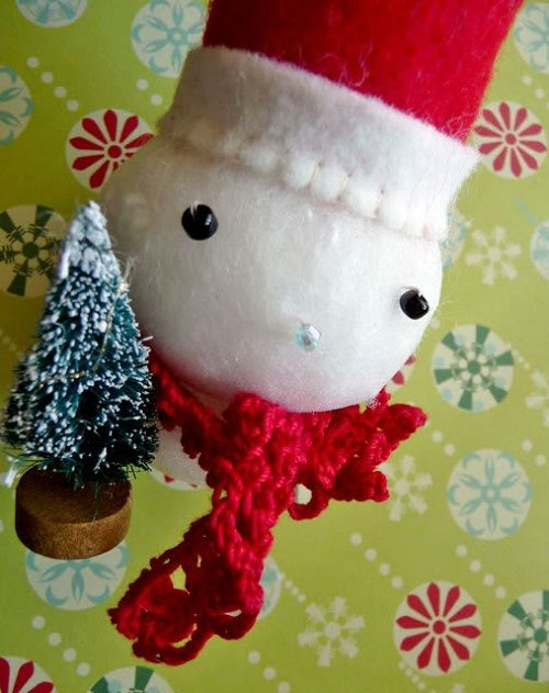 готовый снеговик фото