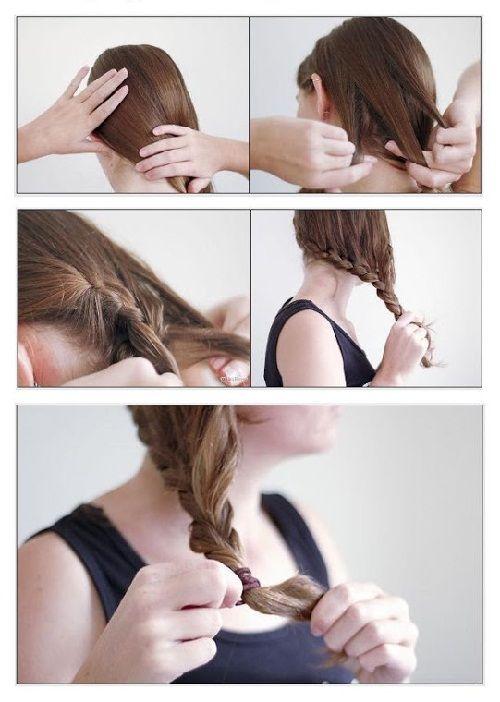 плетем французскую косу фото