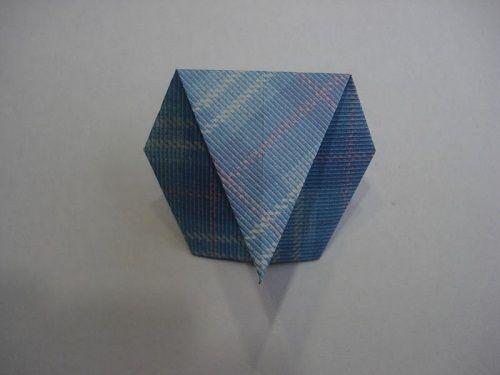 загинаем большой треугольник фото