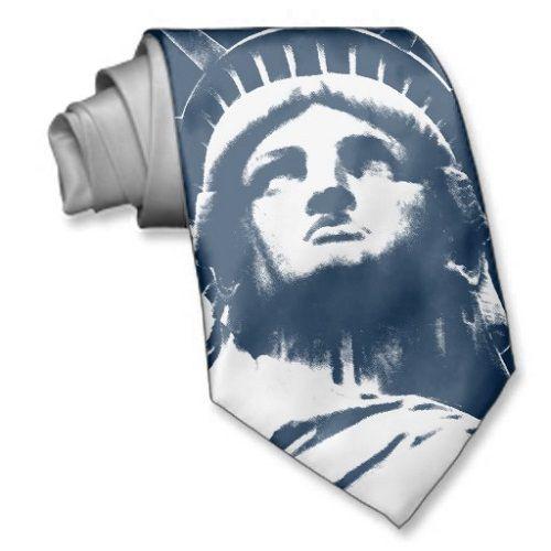 галстук с изображением статуи Свободы фото