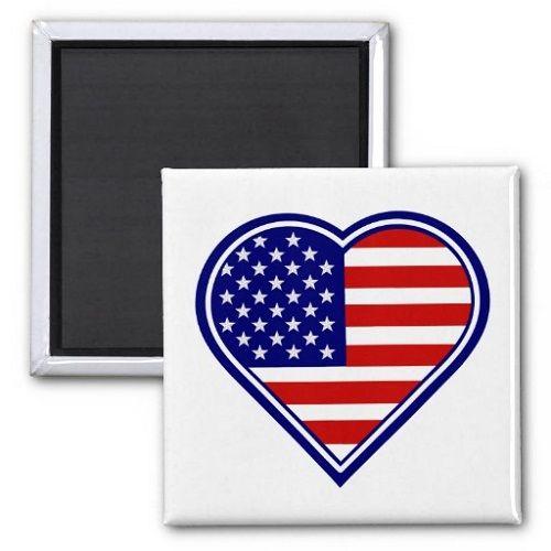 магнит с американским флагом фото