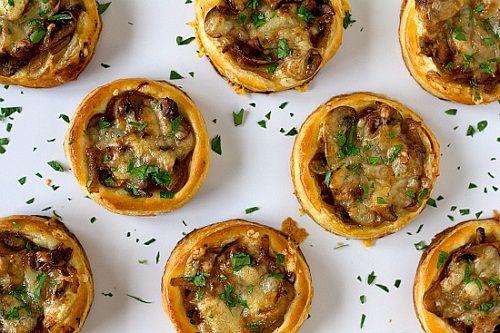 тарталетки с грибами и сыром фото