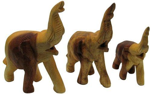тайский деревянный слон фото
