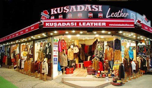кожаные изделия из Турции фото