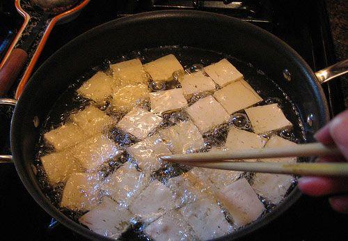 обжаренный тофу фото