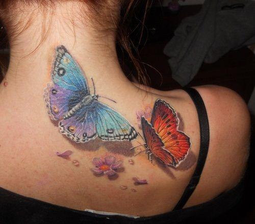 татуировки бабочки фото