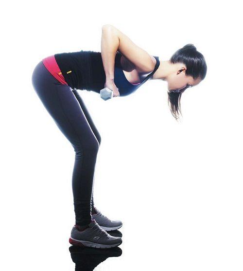 упражнение тяга в наклоне фото