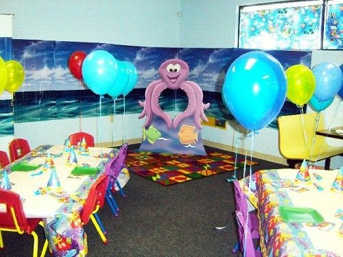 детский праздник в морском стиле фото
