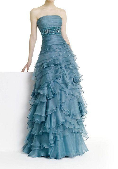 платье с рюшами из шифона фото