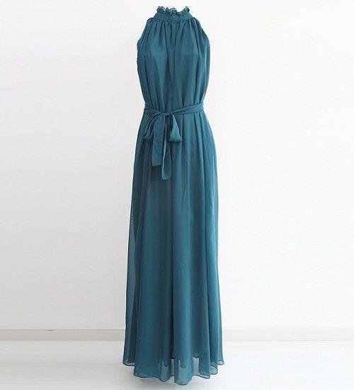 шифоновое платье с акцентом на талии фото