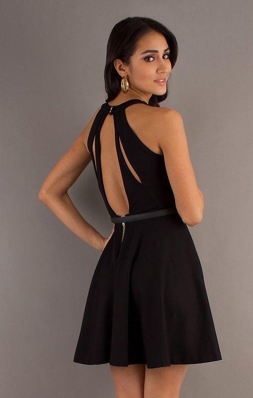 платье с вырезом в виде капли на спине фото