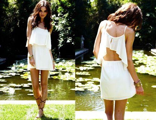 необычное платье с открытой спиной фото