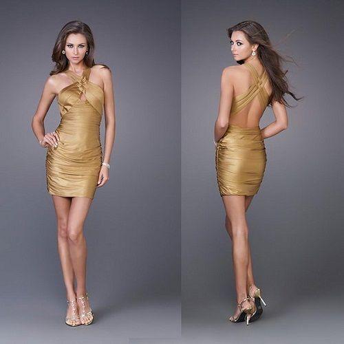 коктейльное платье с открытой спиной фото