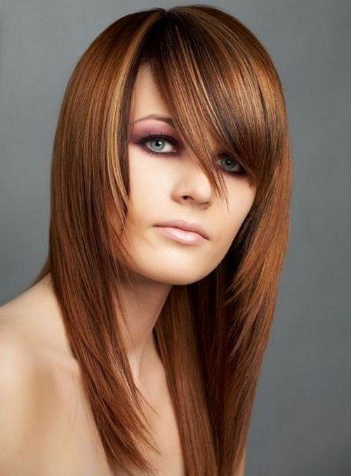 косая стрижка фото