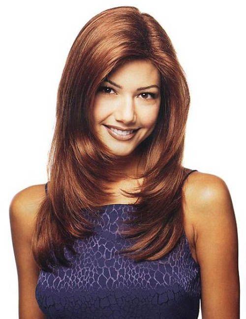 стрижка для длинных волос каскадом фото