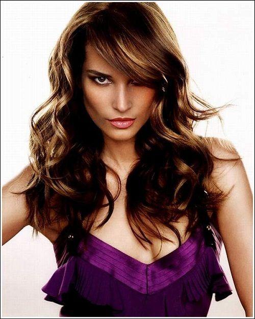 стрижка для длинных волнистых волос фото