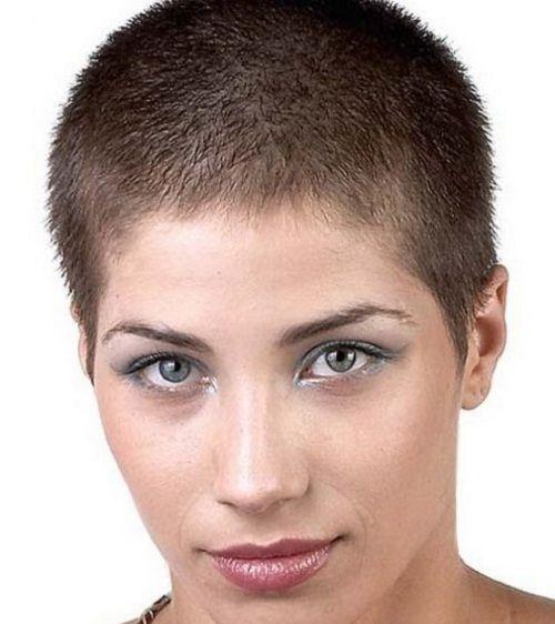 стрижка на короткие волосы под ежик фото
