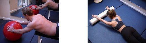 упражнение на катание фото