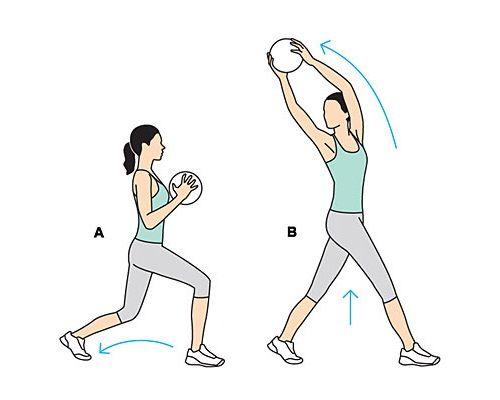 упражнения для рук с мячом фото