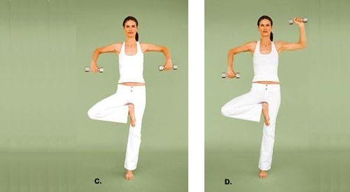 йога с гантелями фото
