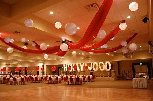 украшение помещения для голливудской вечеринки фото