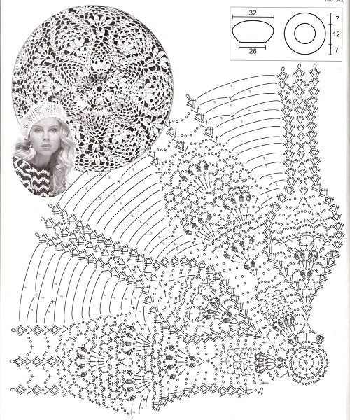 схема вязания берета крючком фото