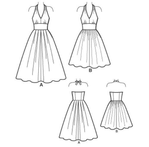платье с завышенной талией и расклешеным низом фото