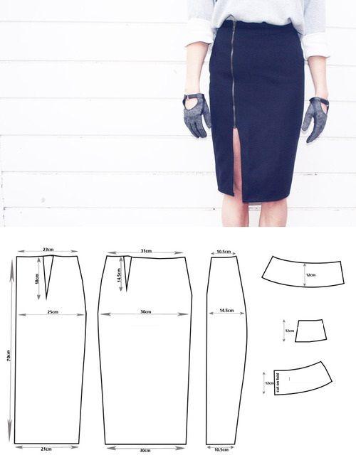 вариант выкройки юбки-карандаш фото