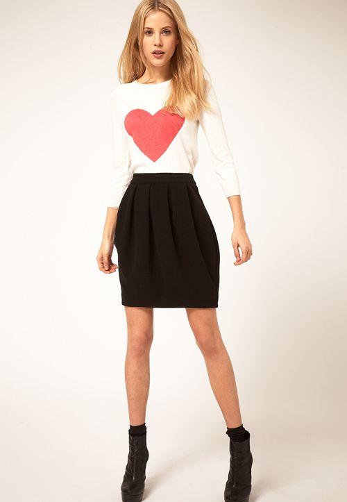 классическая юбка-колокольчик фото