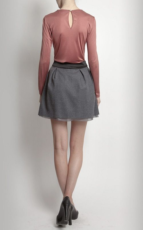 сочетание юбки-колокольчика фото