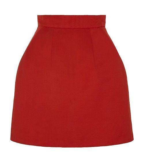 красная юбка-колокольчик фото