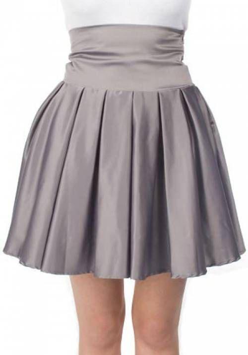 юбка-колокольчик с высокой талией фото