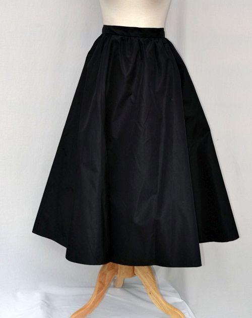 классическая юбка солнце-клеш фото