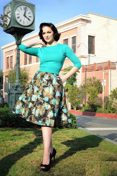 винтажная юбка солнце-клеш фото