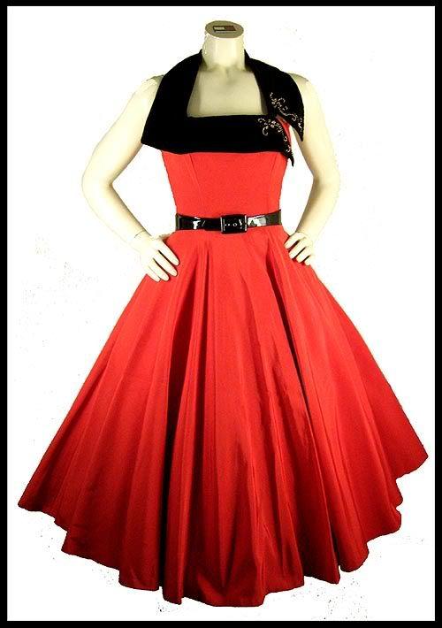 красная юбка солнце-клеш фото