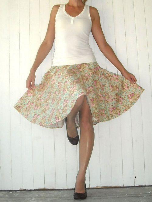 сочетание юбки солнце-клеш фото