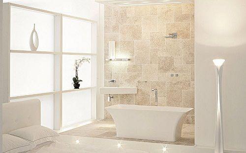 ванная в бежевом цвете фото