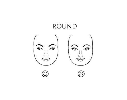 брови для круглого лица фото