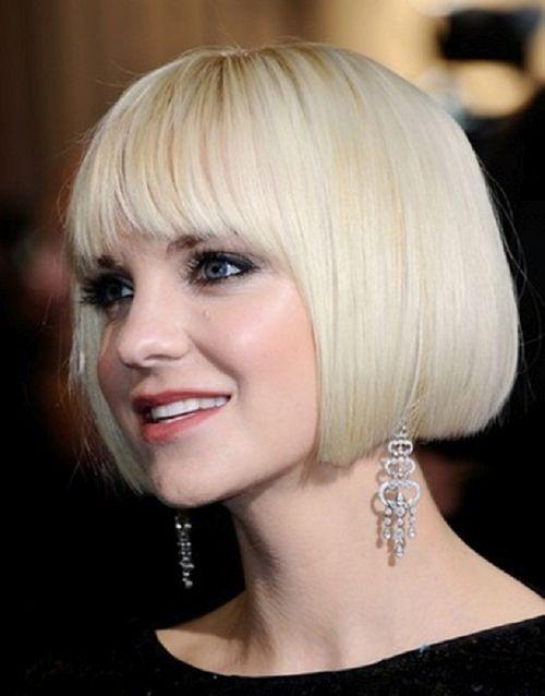 стрижка паж для светлых волос фото