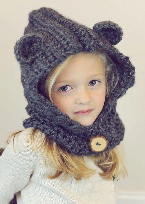 теплая шапочка для девочки фото