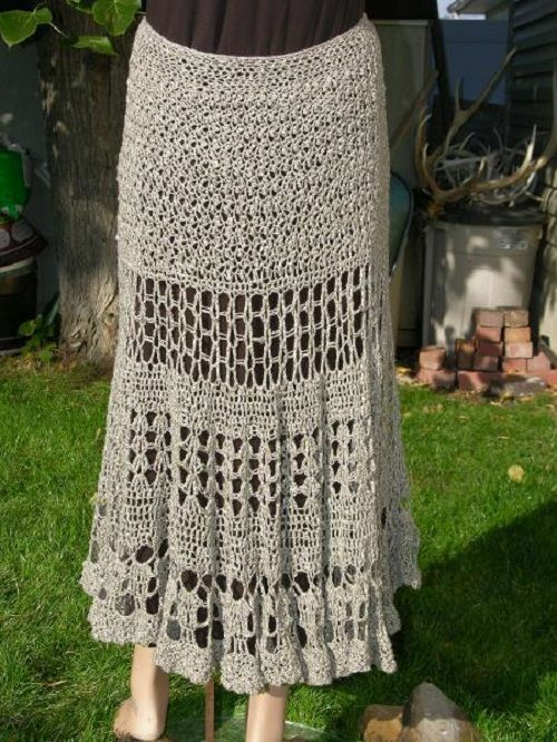 юбка-тюльпан крючком фото